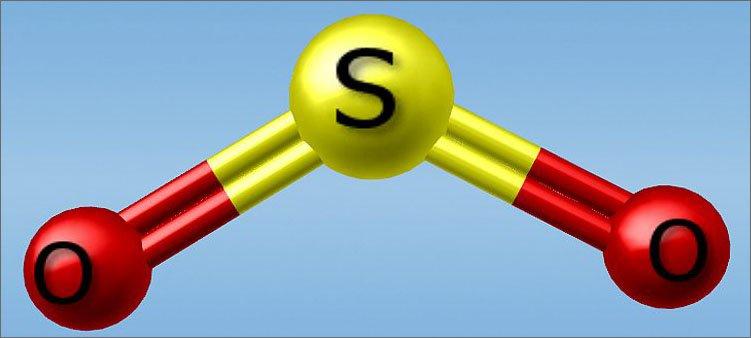 молекула-диоксида-серы