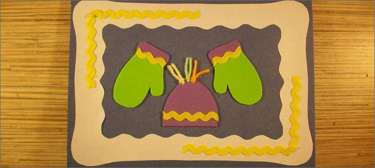 украшаем-открытку-тесьмой
