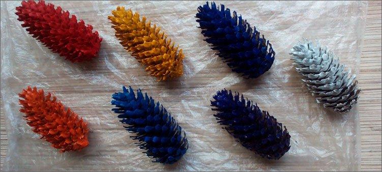 разноцветные-шишки