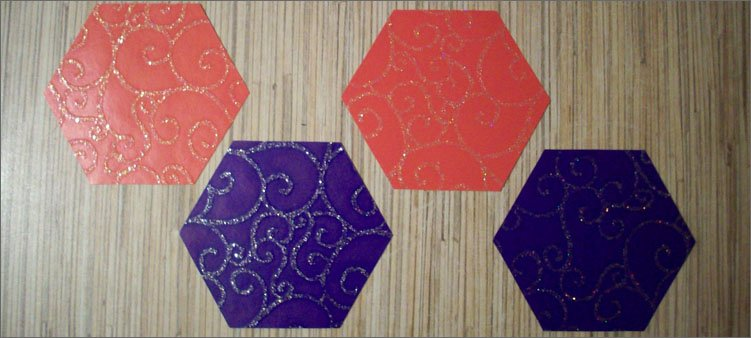 четыре-шестиугольника-из-картона