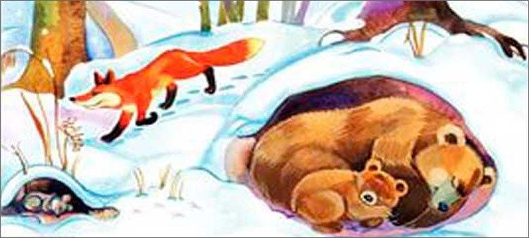 медведь-в-берлоге-рисунок