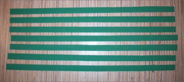 семь-полосок-из-зеленого-картона