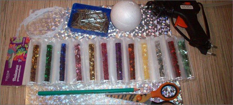 материалы-для-изготовления-шара-с-пайетками