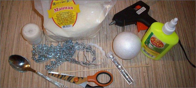 материалы-для-изготовления-игрушки-снежный-ком