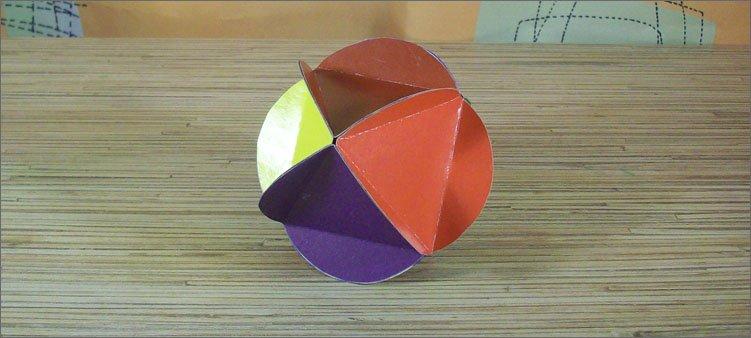 готовый-маленький-шарик-из-картона