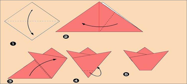 оригами-схема-тюльпан