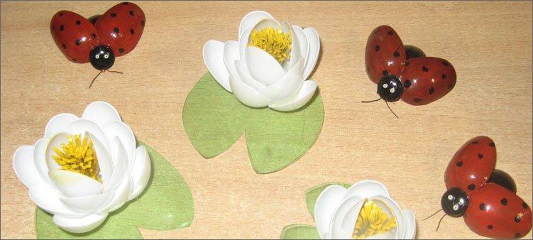 цветы-и-божьи-коровки-из-ложек