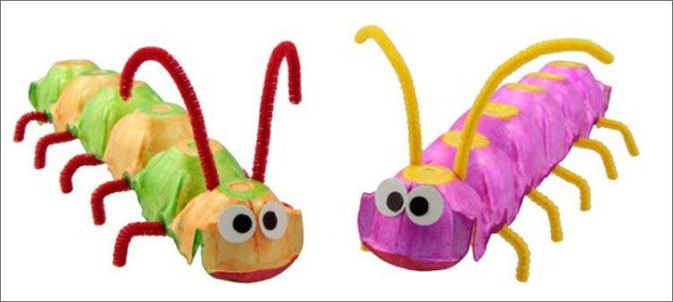 гусеницы-из-яичных-лотков