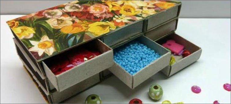 органайзер-для-мелочей-из-коробков