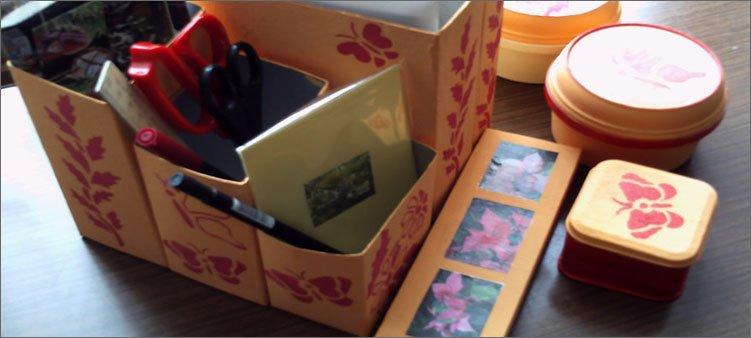органайзер-из-коробок-сока