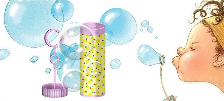 девочка-выдувает-мыльный-пузырь