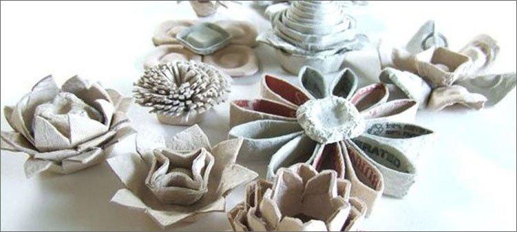 цветы-из-яичных-лотков