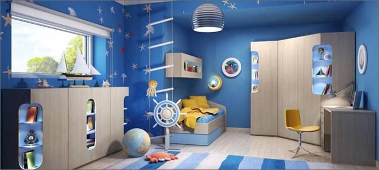 комната-в-синих-тонах