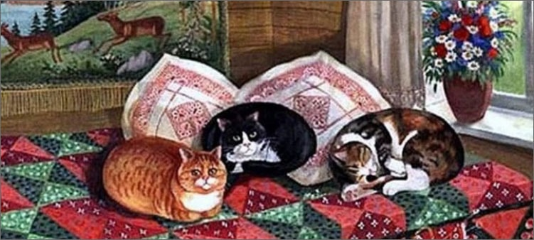 кошки-спят