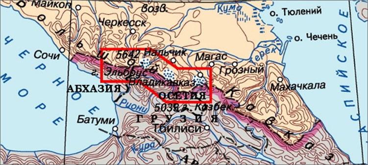 эльбрус-на-карте